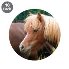 "Classic Mini Horse Portrait 3.5"" Button (10 p"