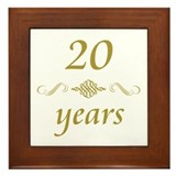 20th Anniversary Gifts Framed Tile