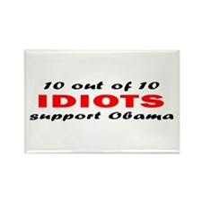 Anti Obama Idiots Rectangle Magnet