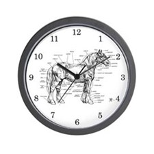 Horse Anatomy Wall Clock