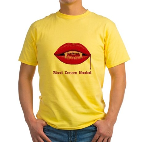 Blood Donors Needed Yellow T-Shirt