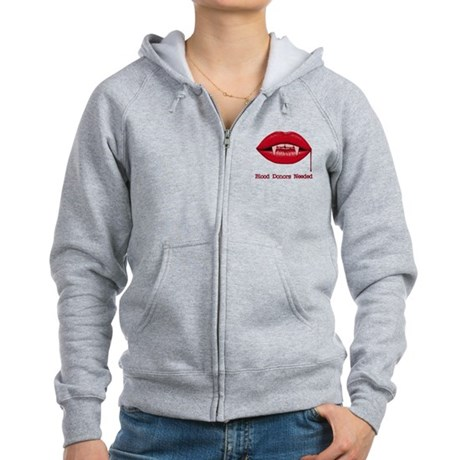 Blood Donors Needed Womens Zip Hoodie