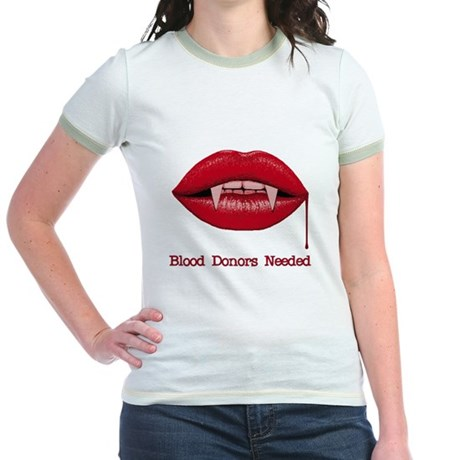 Blood Donors Needed Jr Ringer T-Shirt