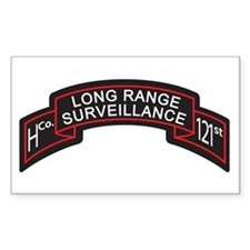H Co 121st INF LRS Scroll Col Rectangle Decal