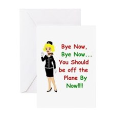 Airline flight attendant Greeting Card
