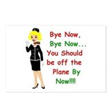 Cute Airline funny Postcards (Package of 8)