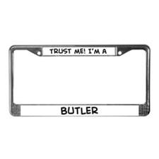 Trust Me: Butler License Plate Frame