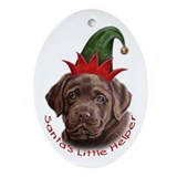 Chocolate Lab Santa Helper