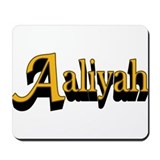 Aaliyah Name Mousepad
