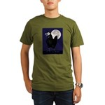Rooster Ghost Organic Men's T-Shirt (dark)