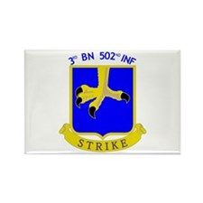 3rd BN 502nd INF Rectangle Magnet (100 pack)