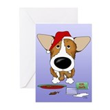Corgi Santa's Cookies Greeting Cards (Pk of 10)