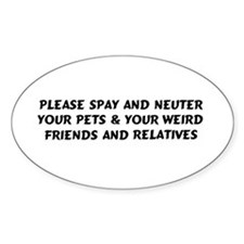 Spay & Neuter Oval Decal