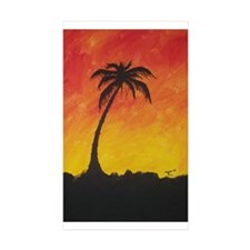 Lonely Palm Rectangle Sticker 10 pk)