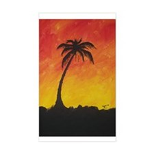 Lonely Palm Rectangle Decal