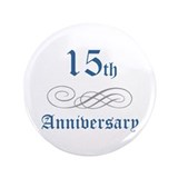 Elegant 15th Anniversary 3.5&quot; Button (100 pack)