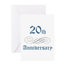 Elegant 20th Anniversary Greeting Card