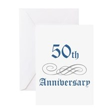 Elegant 50th Anniversary Greeting Card