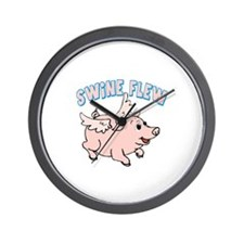 The Swine Flew Wall Clock