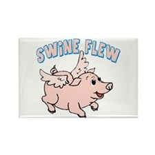 The Swine Flew Rectangle Magnet