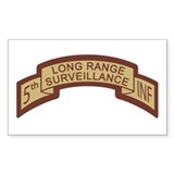 5th Infantry LRS Desert Rectangle Decal