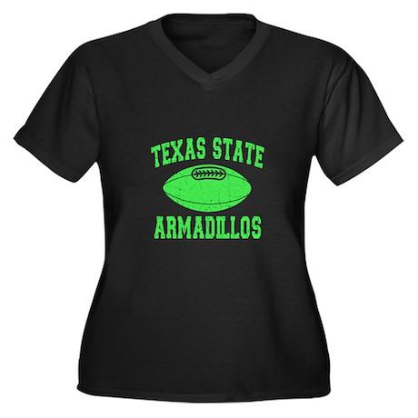 Texas State Armadillos Women's Plus Size V-Neck Da