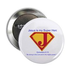 "Jesus is My Super Hero 2.25"" Button (100 pack)"