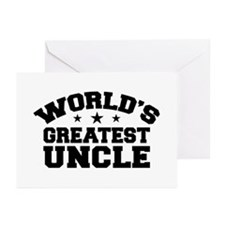 World's Greatest Uncle Greeting Cards (Pk of 10)