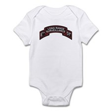 E Co 51st Infantry LRS Scroll Infant Bodysuit