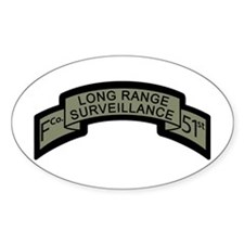 F Co. 51st Infantry Long Rang Oval Decal