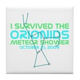 Orionids Meteor Shower Tile Coaster