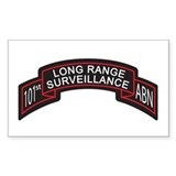 101st Airborne LRS Scroll, Cl Rectangle Decal