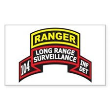 104th LRS Scroll with Ranger Sticker (Rectangular