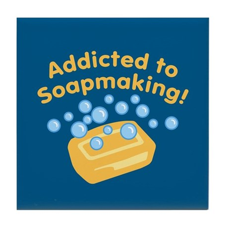 Addicted to Soap Craft Tile Coaster