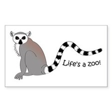 Ring-tailed Lemur Rectangle Decal