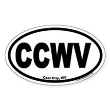 Coal City West Virginia CCWV Euro Oval Decal