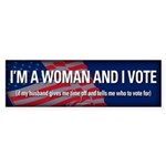 I'm a Woman and I Vote sticker