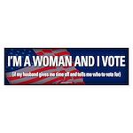 I'm a Woman and I Vote sticker