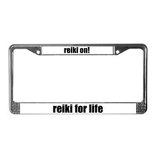 Reiki On! License Plate Frame