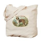 Saint Bernard Dog Vintage Cigar Label Art Tote Bag