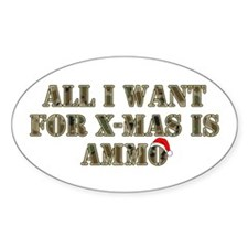 Camo Ammo XMAS Oval Decal