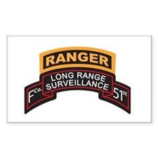 F Co 51st INF LRS Scrolls - A Rectangle Decal