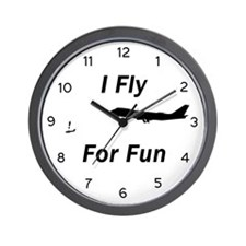 I Fly for Fun - Wall Clock