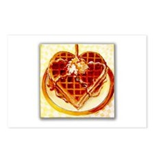 Waffle of Love Postcards (Package of 8)