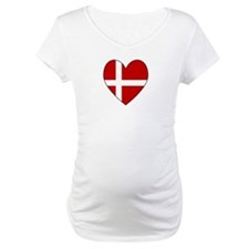 Danish Flag Heart Shirt