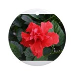 Red Hibiscus Ornament (Round)