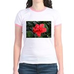 Red Hibiscus Jr. Ringer T-Shirt