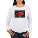 Red Hibiscus Women's Long Sleeve T-Shirt