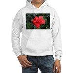 Red Hibiscus Hooded Sweatshirt