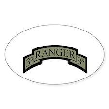 3rd Ranger Bn Scroll ACU Oval Decal